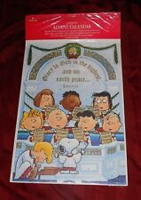 Vintage Peanuts Countdown To Christmas Advent Calendar Church Choir Rare Htf New