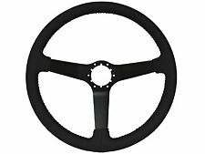 1980 - 1982 GM Steering Wheel - Black Leather Wrapped with a Black Center