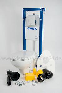 Wisa WC-Set, WC-Element XS SU WC Vorwandelement+Wand -WC+WC-Sitz Absenkautomatik