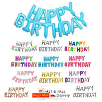 Large Happy Birthday Balloons Banner Inflating Balloon Bunting Party Decor UK