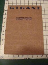 Original Vintage 1920's TYPEFACE CATALOG -- GIGANT / GENZSCH & HEYSE modern font
