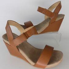 CL LAUNDRY Trudy Brown Wedge Heels Sandals Women Shoes Sz 9 EU 40 AL4074