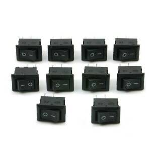 10x DC 12V 16A 10x15mm SPST ON/OFF Switch Mini Black 2 Pin Rocker Switch Tools