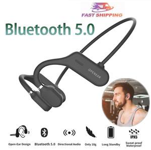Bone Conduction Headphones Bluetooth 5.0 Sports Wireless Earphone Headset 2021
