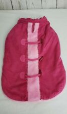 Cynthia Rowley Pink Fluffy Dog Coat Jacket Size Medium