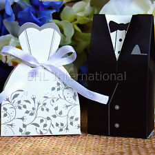 US Wedding Favors(TM) 100pcs Boxes Dress & Tuxedo Party Shower Gift Style 3