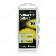 6 pile batterie per apparecchi acustici DURACELL ACTIVAIR mod. 10 PR70 gialle