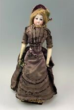 "16"" Leon Casamir Bru Antique French Bisque Fashion Doll Incised E Mark"