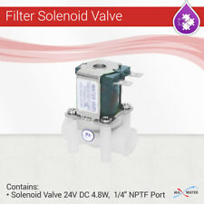 """Reverse Osmosis Water Filter Solenoid Valve 24V DC 4.8W,  1/4"""" NPTF in out port"""
