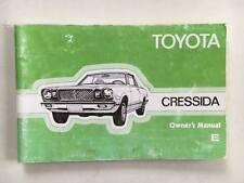 Original Genuine Toyota Cressida RX30 RWD, Factory UK Owners Manual. RARE!