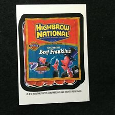 2012 TOPPS WACKY PACKAGES POSTCARDS 8 ARTIST BIO CARD JOE SIMKO HIGHBROW NATION
