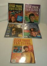 ☆ Lot 5 ALL ABOUT STAR TREK FAN CLUBS MAGAZINE ISSUES 1, 2, 3, 4, 5 NICE F/SHIP