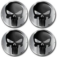 65mm 3D Gel Car Wheel Centre Hub Center Rim Punisher Stickers For Caps Skull