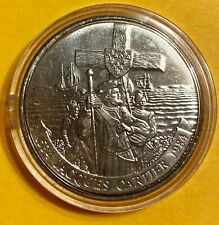 1984 $1 CANADA JACQUES CARTIER LANDING UNCIRCULATED DOLLAR IN A PLASTIC CAPSULE