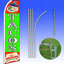 Feather Flag Swooper Advertising Flag Banner Sign 15' Tall Kit - TACOS