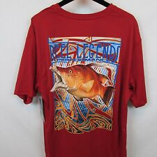 Reel Legends Performance Logo Men's Red Medium T-Shirt Quick Dry NWT
