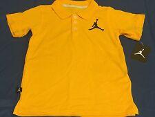 "Nwt Nike ""Air Jordan"" V Gold Black Polo Shirt Youth Size 6 (5-6) Age"
