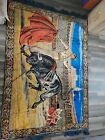 Vintage Spanish Bull Fighting Matador Coliseum Wall Art Tapestry