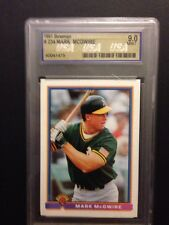 1991 Bowman - Mark McGwire - Oakland A's  ** Graded 9.0 MINT **