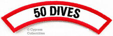 New listing 50 DIVES CHEVRON - SCUBA DIVING iron-on DIVE CERTIFICATION PATCH embroidered