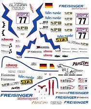 #77 Freisinger Motorsports Porsche Gt3 2001 1/64th Ho Scale Slot Car Decals