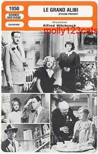 Alfred Hitchcock Director Stage Fright Marlene Dietrich French Film Trade Card