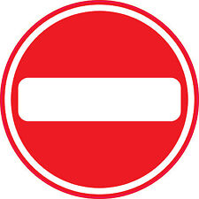 NO ENTRY -  Sign/Sticker/Vinyl - Health and Safety - Site - Office 150mm x 150mm