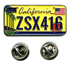 California CA Sacramento Car License Plate USA Badge Pin Badges 0642