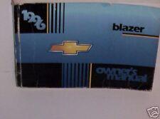 1996 Chevrolet Blazer Owner's Manual