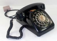 Vintage Automatic Electric Black Rotary Dial Desk Telephone