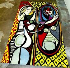 Rare picasso Mid Century Rug Tapestry Girl Before Mirror 182 by 274 cm.