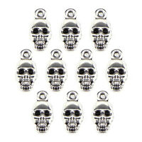 10PCS Halloween Skull Beads Tibetan Silver Charms Jewelry Pendant DIY FindiB sa