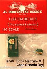 JL Innovative HO/HOn3 Upright Soda Machine & Case Canada Dry (748)