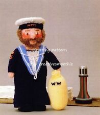 (228) Toy Knitting Pattern for Woolly Wotnots Sailor
