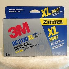 3M DC2120 XL XIMAT Formatted QIC-80 170 MB Mini-cartridges 350MB - 2/Pack - New