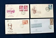Four India FDC 'Personalities' Stamps Series 1961-70. Poona/Bombay Postmarks