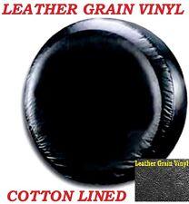 "LINED VINYL LEATHER GRAIN SPARE TIRE COVER 24.5""-26"" plain black V37468S2"