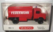 Wiking 086136 MB Kurzhauber 1963 2-achs Tankwagen Feuerwehr 1:87 HO