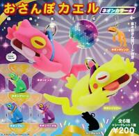 Kitan Club Walking Frog Basic neon color Gashapon 7 set mini figure capsule toys