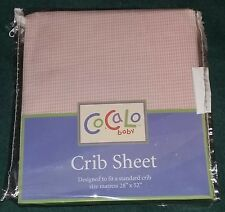 """New CoCaLo Baby """"Ella Grace"""" Pink Gingham Check Fitted Crib Sheet-Girl"""