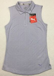 Women's PUMA Pounce Sleeveless Golf Polo Shirt Sweet Lavender XS X-Small New $55