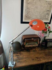 Ancienne grande lampe de bureau ferdinand solere articulée industriel architecte