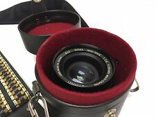 Sigma mini-wide 1:28 f=28mm Lens With Hard Case for Minolta with Filters