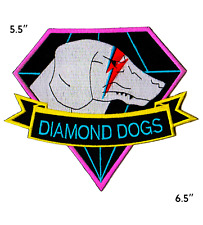 Metal Gear Solid Diamond Dogs Ziggy Stardust Iron on Retro Patch EXTRA Large