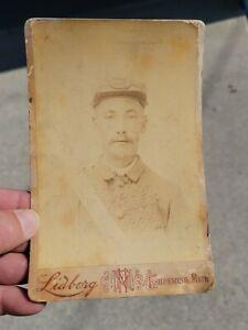 Old Vintage Civil War CDV photo cadet soldier picture photograph