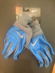 NEW Nike Mens Therma-Fit Elite 2.0 Running Outdoor Winter Gloves Gray Blue M