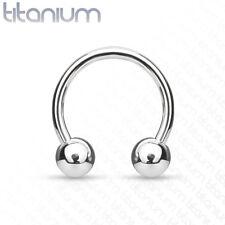 Titanium Horseshoe Hoop Ring 16G 8mm Cartilage Septum Eyebrow Helix