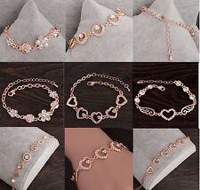 Armbänder rosegold Metall Straß bracelts Armkette verstellbar