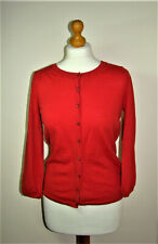 BODEN - Gorgeous 100% Wool Cardigan (WK479) - Red - UK 12 - Thames Hospice