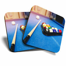 2 x Coasters - Awesome Blue Pool Table Snooker Home Gift #8563